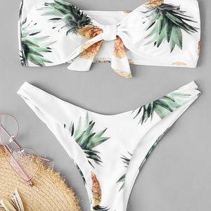 Other - Pineapple Printed Bikini